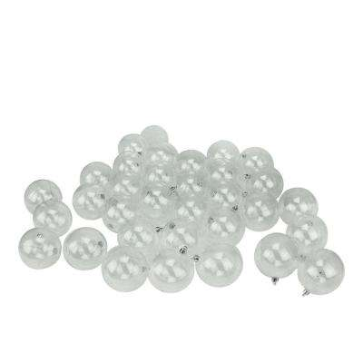 Clear Shatterproof Christmas Ball Ornaments (32-Count)