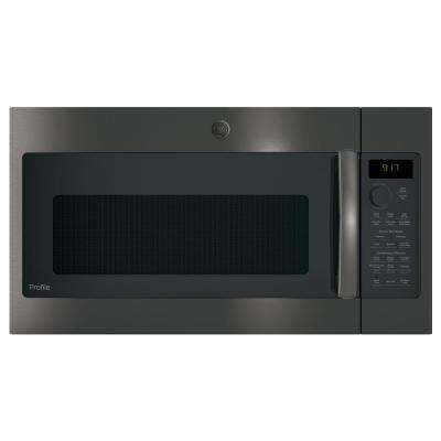 1.7 cu. ft. Over the Range Convection Microwave in Black Stainless Steel