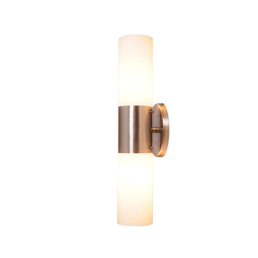 Eastport 2-Light Satin Nickel Indoor Bath Bar Light