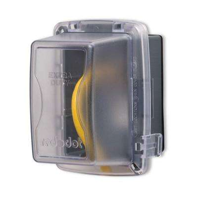 1-Gang Extra Duty Non-Metallic While-In-Use Weatherproof Horizontal/Vertical Receptacle Cover with Wasp Guard