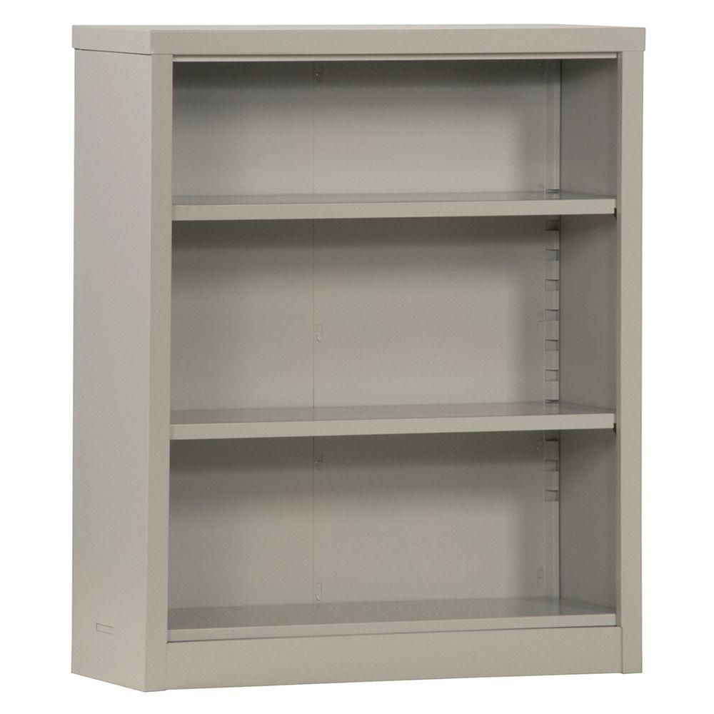 Dove Grey Steel Bookcase