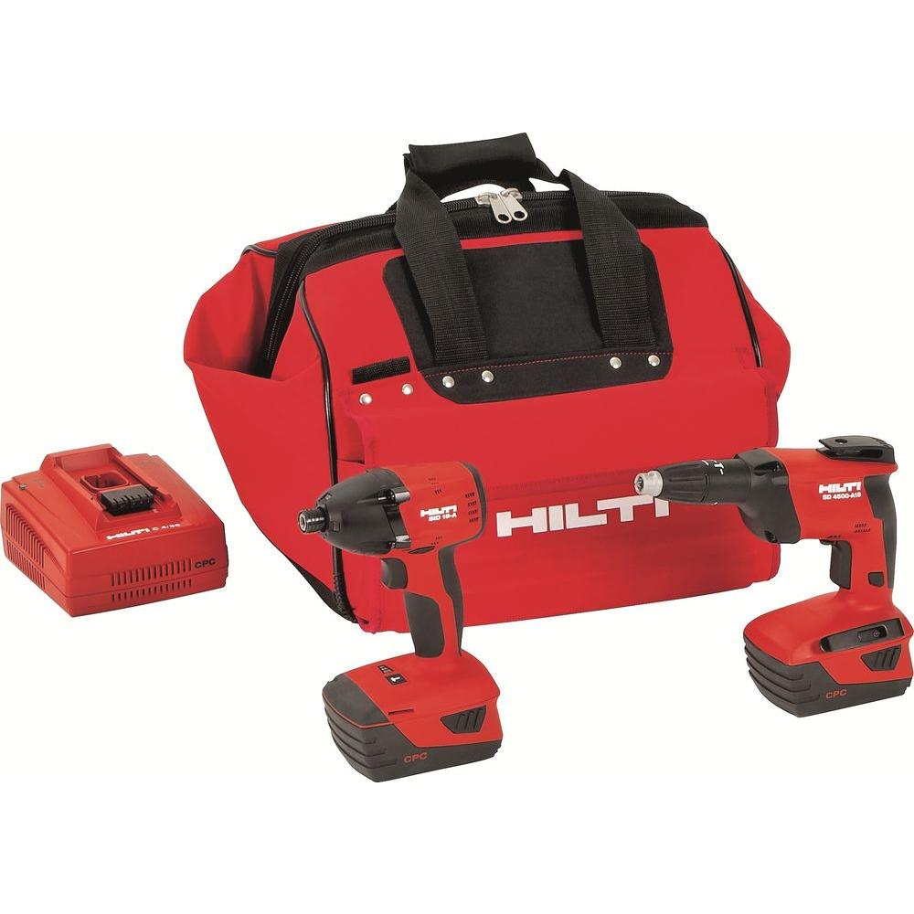 Hilti 18-Volt Lithium-Ion Cordless Impact Driver/High Speed Drywall Screwdriver Combo Kit (2-Tool)