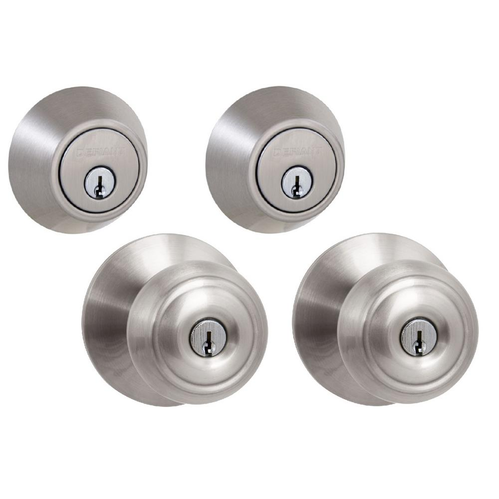Hartford Satin Nickel Single Cylinder Keyed Entry Project Pack