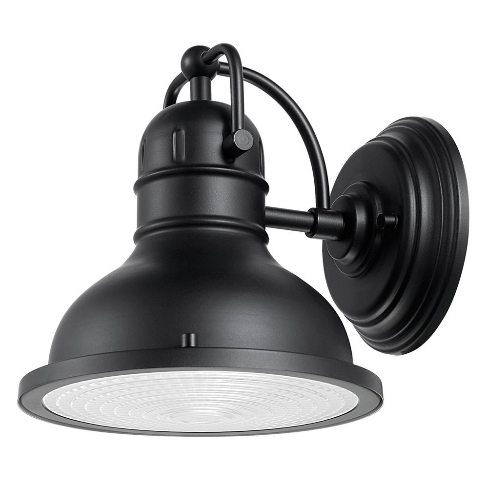 Globe Electric Harbor 1 Light Black Outdoor Wall Sconce 44157