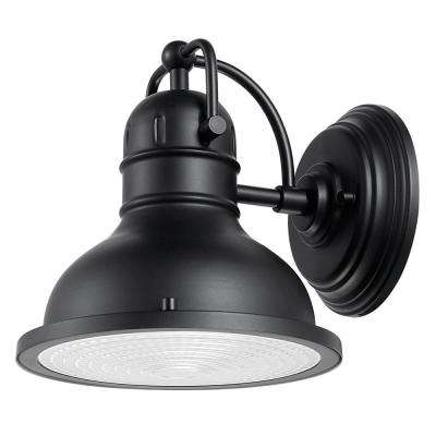Harbor 1-Light Black Outdoor Wall Sconce