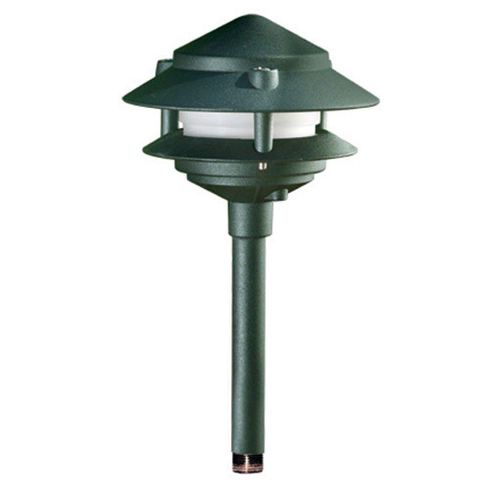 Porch Light Green: Filament Design Corbin 1-Light Green 2-Tier Outdoor Pagoda