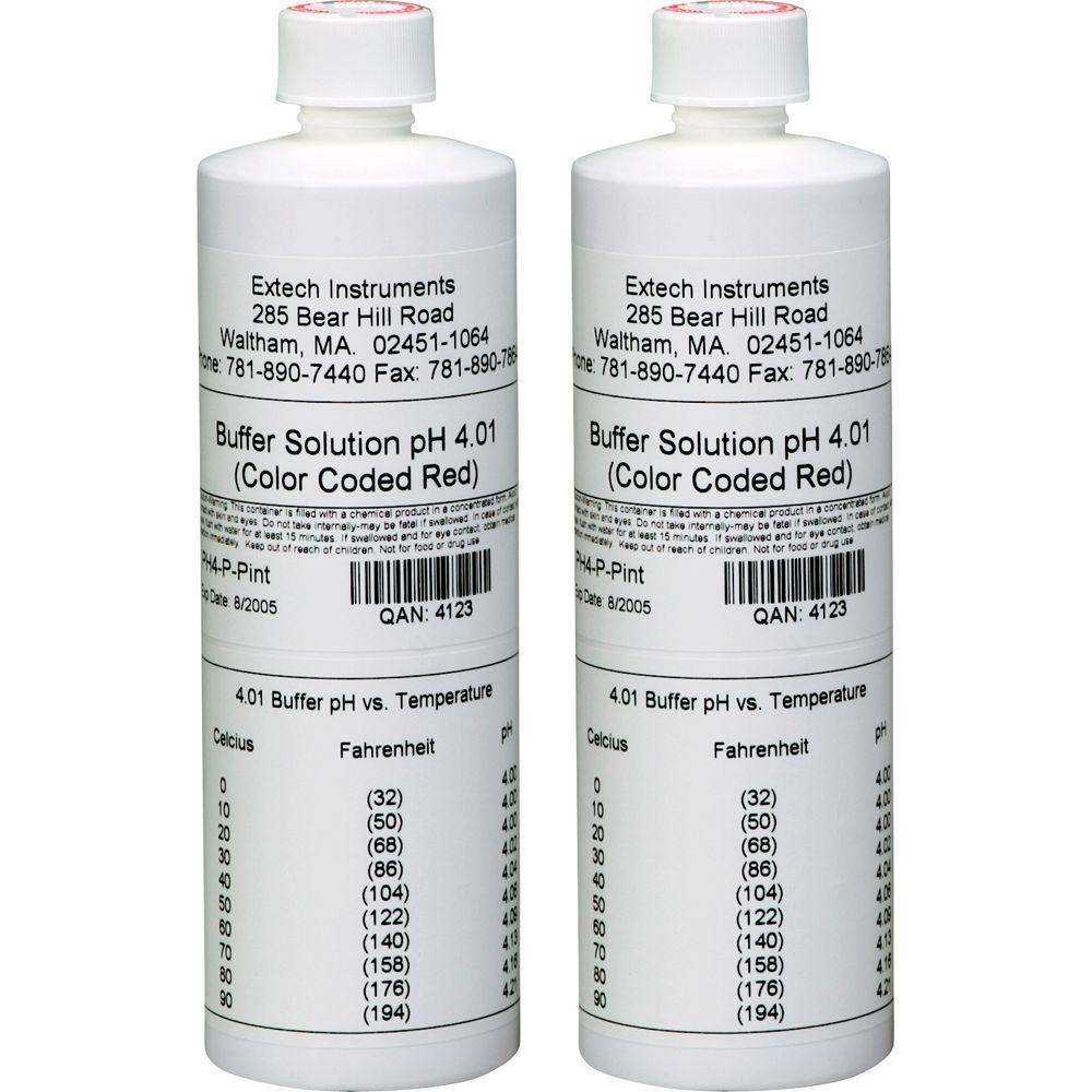 Extech Instruments 4 pH Pint Size Buffer Solution