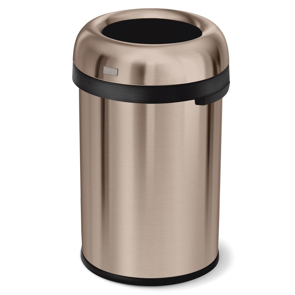 115-Liter/31 Gal Rose Gold Heavy-Gauge Stainless Steel Bullet Round Open Top