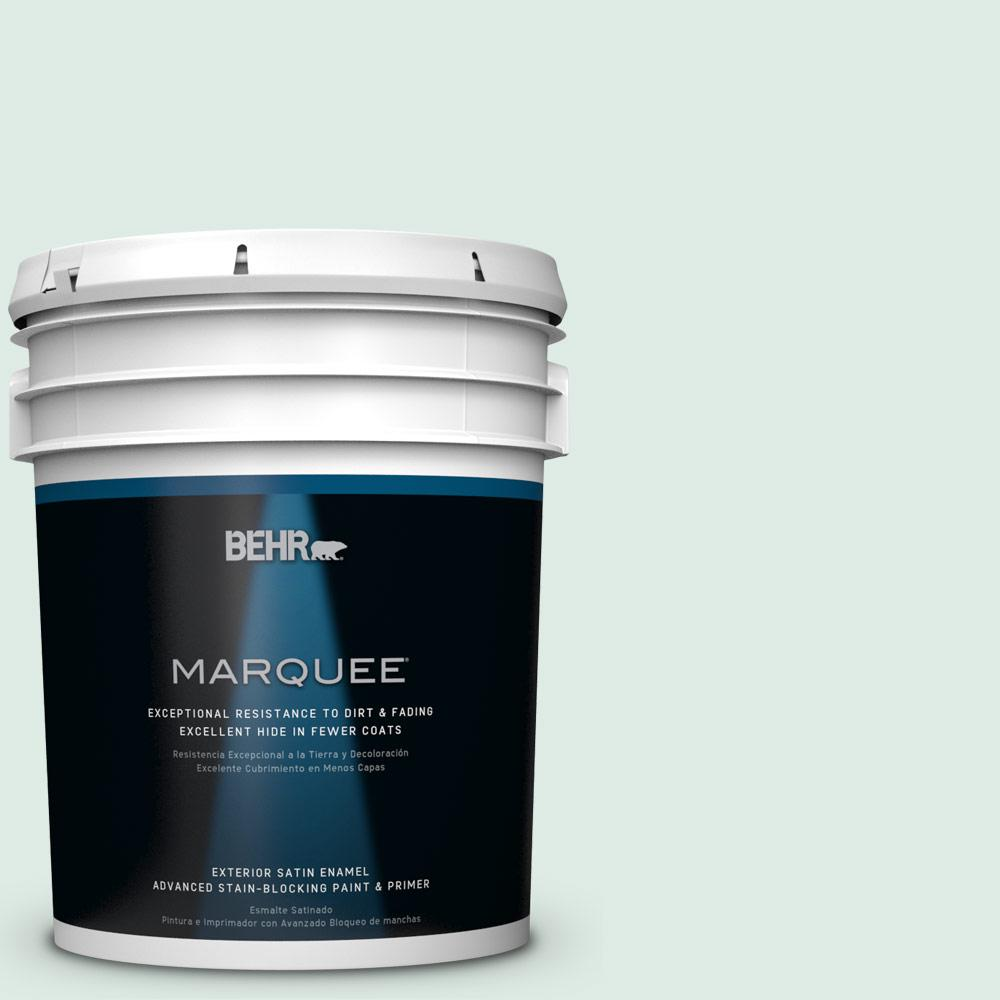 BEHR MARQUEE 5-gal. #M430-1 Snowbound Satin Enamel Exterior Paint