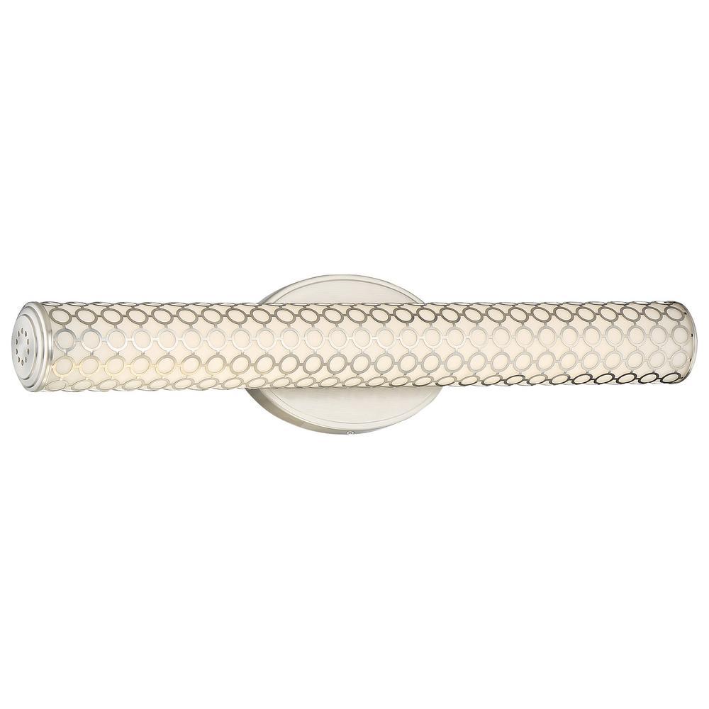 Dots 33-Watt Brushed Nickel Integrated LED Bath Light