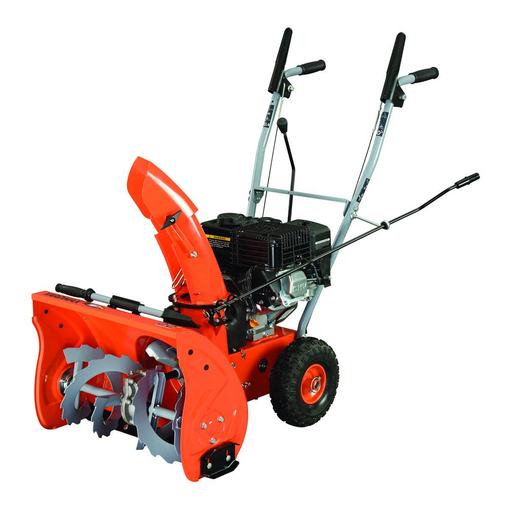 2 stage snow blower yardmax 22 in 2 stage gas snow blower yb5765 the home depot 28976