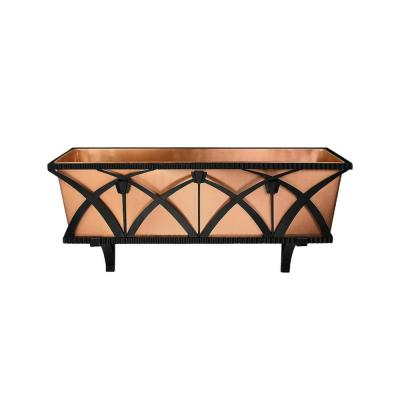 36 in. W Satin Copper Rookwood Window Box and Planter