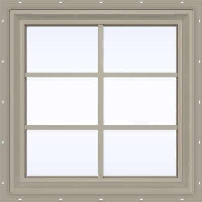 V-2500 Series Fixed Picture Vinyl Window with Grids