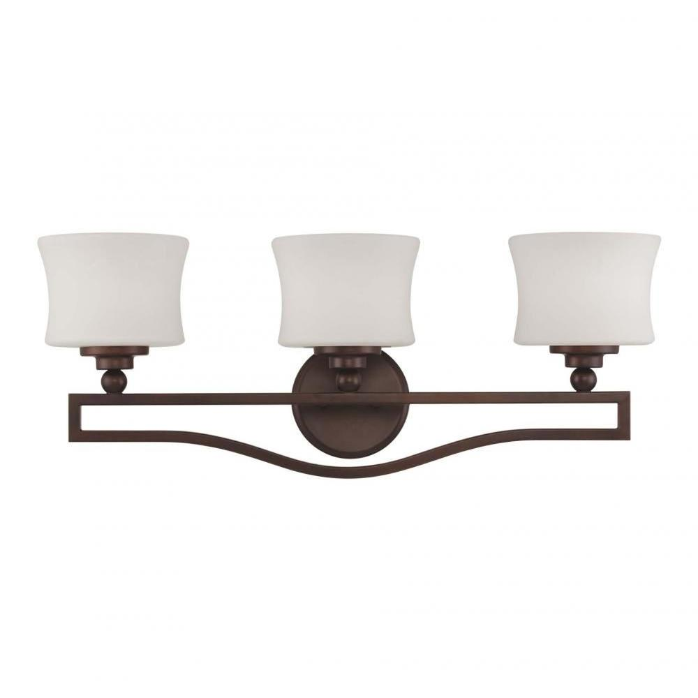 Proleg 3-Light English Bronze Bath Vanity Light