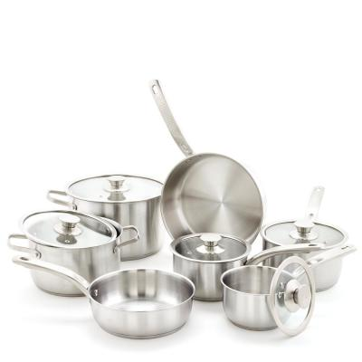Classic 12-Piece Stainless Steel Cookware Set