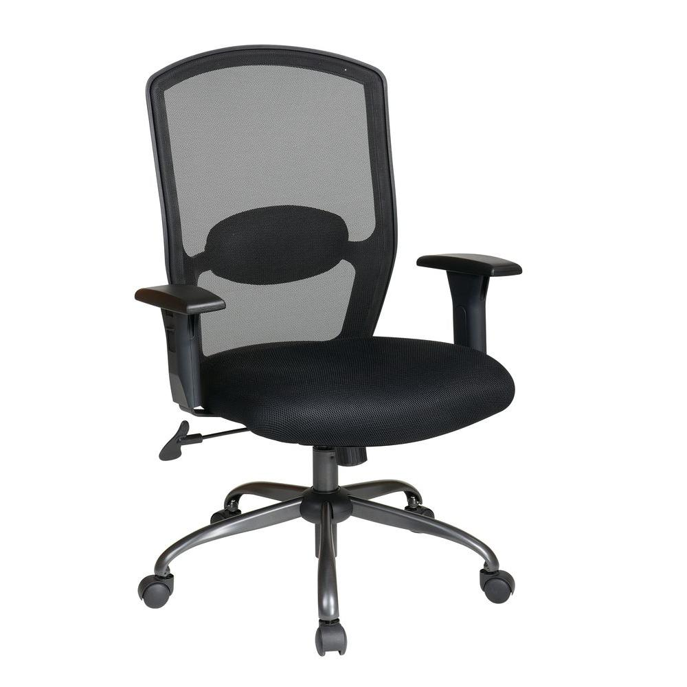 Work Smart Black Screen Back Office Chair  sc 1 st  Home Depot : chairs for work - Cheerinfomania.Com