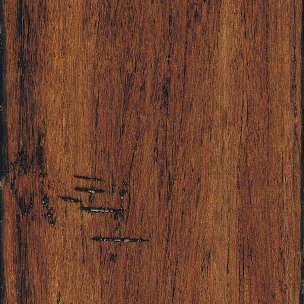 Hand Scraped Strand Woven Spice 1/2 in. T x 5-1/8 in. W x 72-7/8 in. L Solid Bamboo Flooring (25.93 sq. ft. / case)