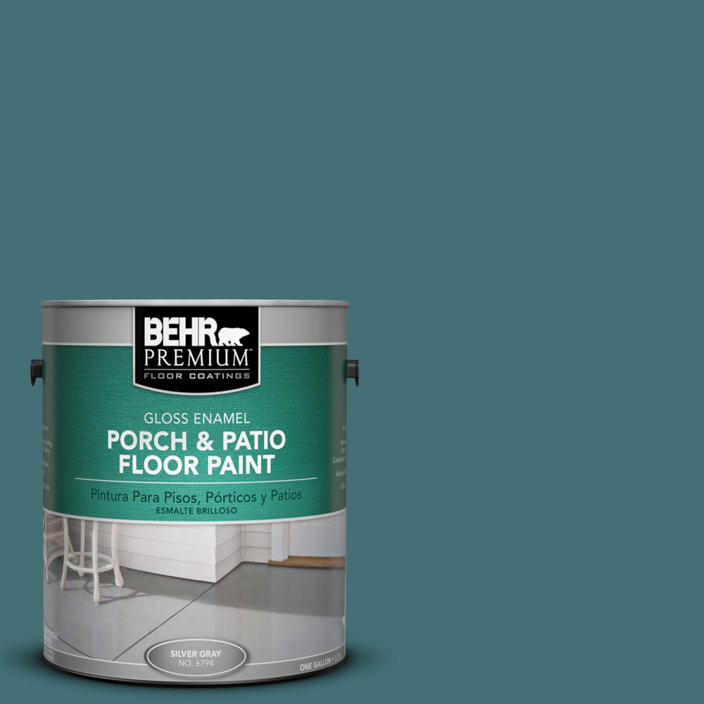 1 gal. #HDC-CL-22 Sophisticated Teal Gloss Interior/Exterior Porch and Patio