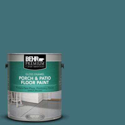 1 gal. #HDC-CL-22 Sophisticated Teal Gloss Porch and Patio Floor Paint