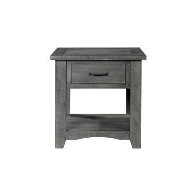 Rustic Collection Grey End Table