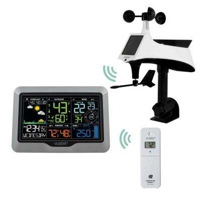 La Crosse View Wi-Fi Professional Weather Center with Combo Wind/Rain  Sensor and Remote Monitoring