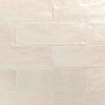 Amagansett Cream 2 in. x 8 in. 9mm Satin Ceramic Wall Tile (10.76 sq. ft. / box)