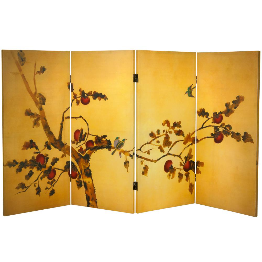 3 ft. Printed 4-Panel Room Divider-CAN-SILK5 - The Home Depot