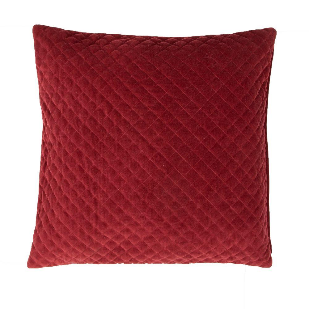 Lavish Red Ochre Poly Decorative Pillow