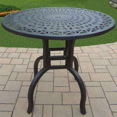 Hampton Aluminum Round Patio Bar Height Dining Table