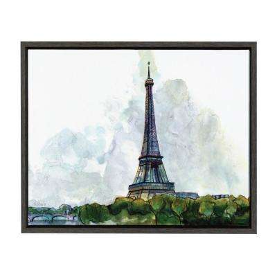 "Sylvie ""Splash Art Eiffel Tower"" by Redstreake Framed Canvas Wall Art"