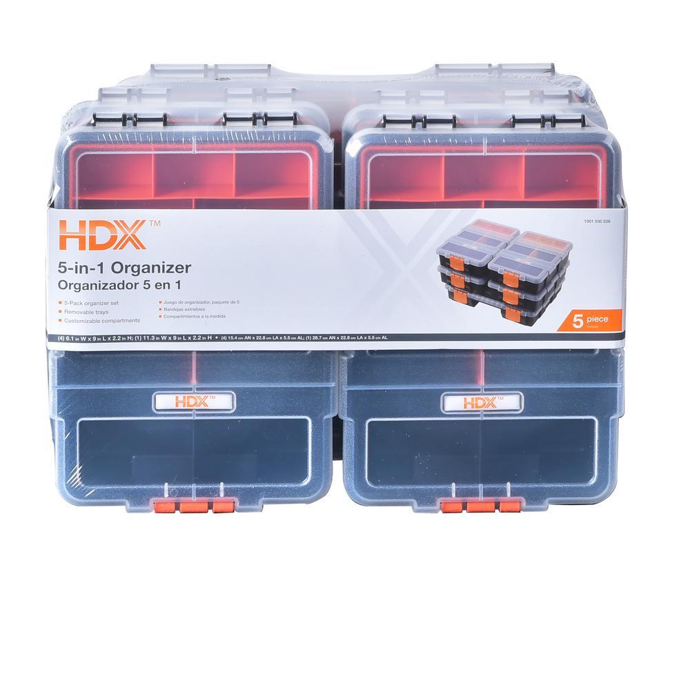 65-Compartment 5 in 1 Small Parts Organizer