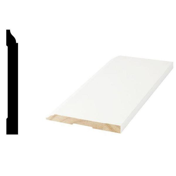 WM 618 9/16 in. x 5-1/4 in. x 96 in. Primed Finger-Jointed Base Moulding