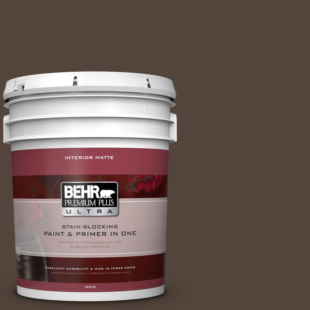 5 gal. #ECC-12-3 Shadow Wood Flat/Matte Interior Paint
