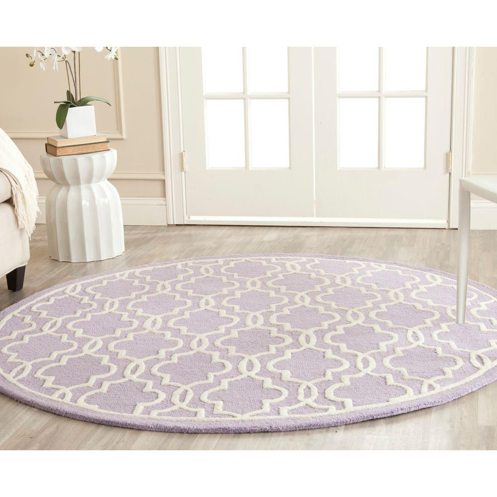 Safavieh Cambridge Lavender Ivory 6 Ft X Round Area Rug