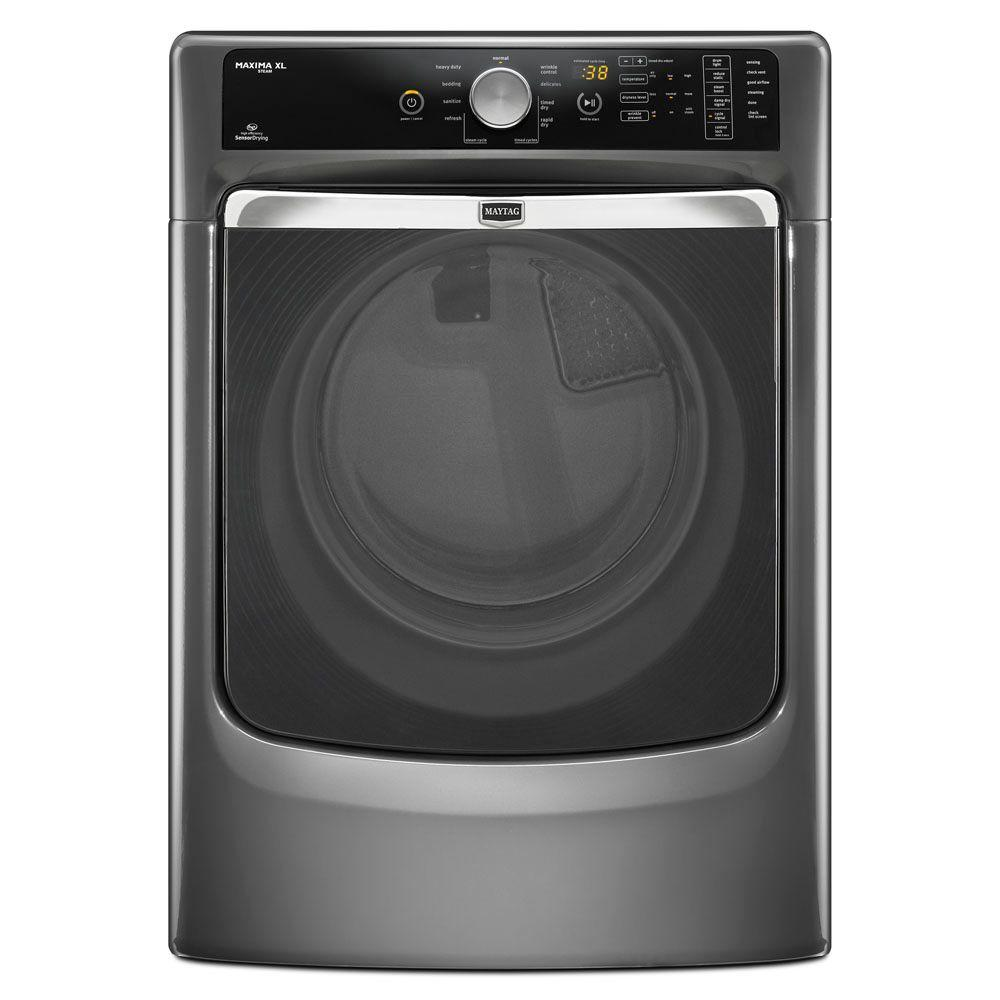 Maytag Maxima XL 7.4 cu. ft. Electric Dryer with Steam in Granite-DISCONTINUED