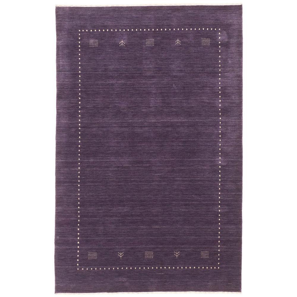 Kashkuli Gabbeh Dark Purple 4 ft. x 6 ft. Area Rug