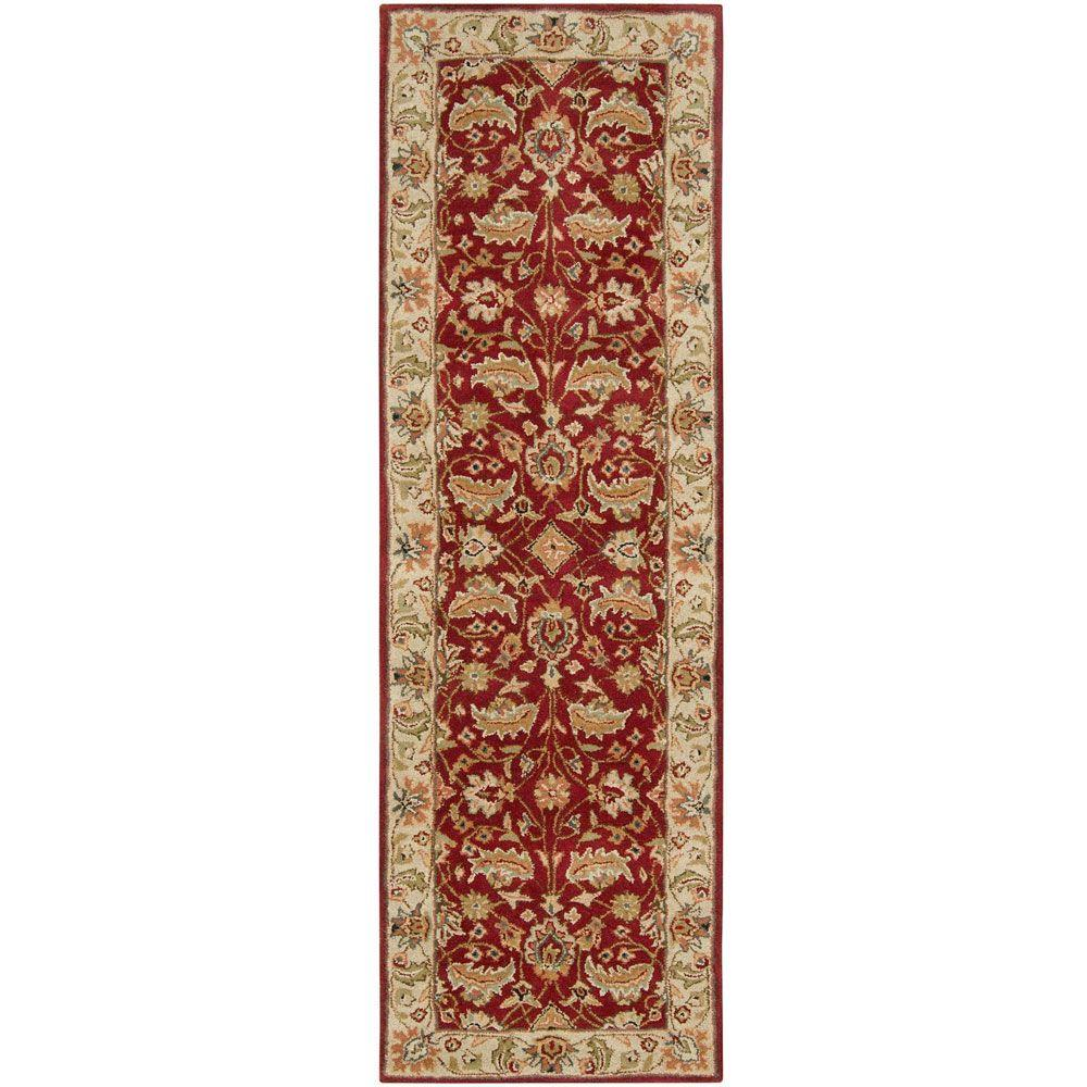 John Red 3 ft. x 12 ft. Runner Rug