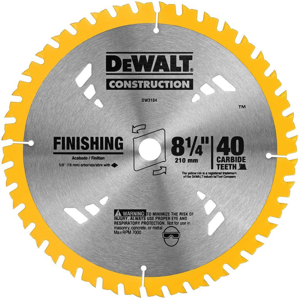 Dewalt 8 14 in 40t carbide thin kerf circular saw blade dw3184 dewalt 8 14 in 40t carbide thin kerf circular saw blade greentooth Choice Image