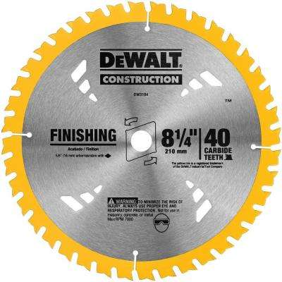 8-1/4 in. 40T Carbide Thin Kerf Circular Saw Blade