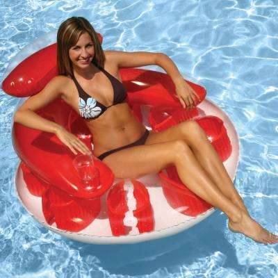 Water Pop Red Pool Circular Lounge