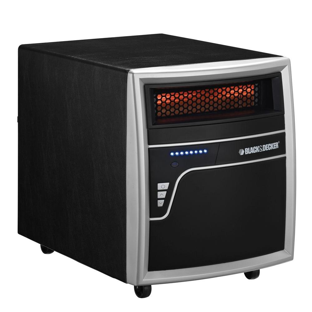 BLACK+DECKER 1500-Watt Electric Infrared Quartz Heater - Metal Black