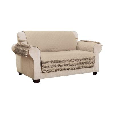 Claremont Ruffled Loveseat Furniture Cover