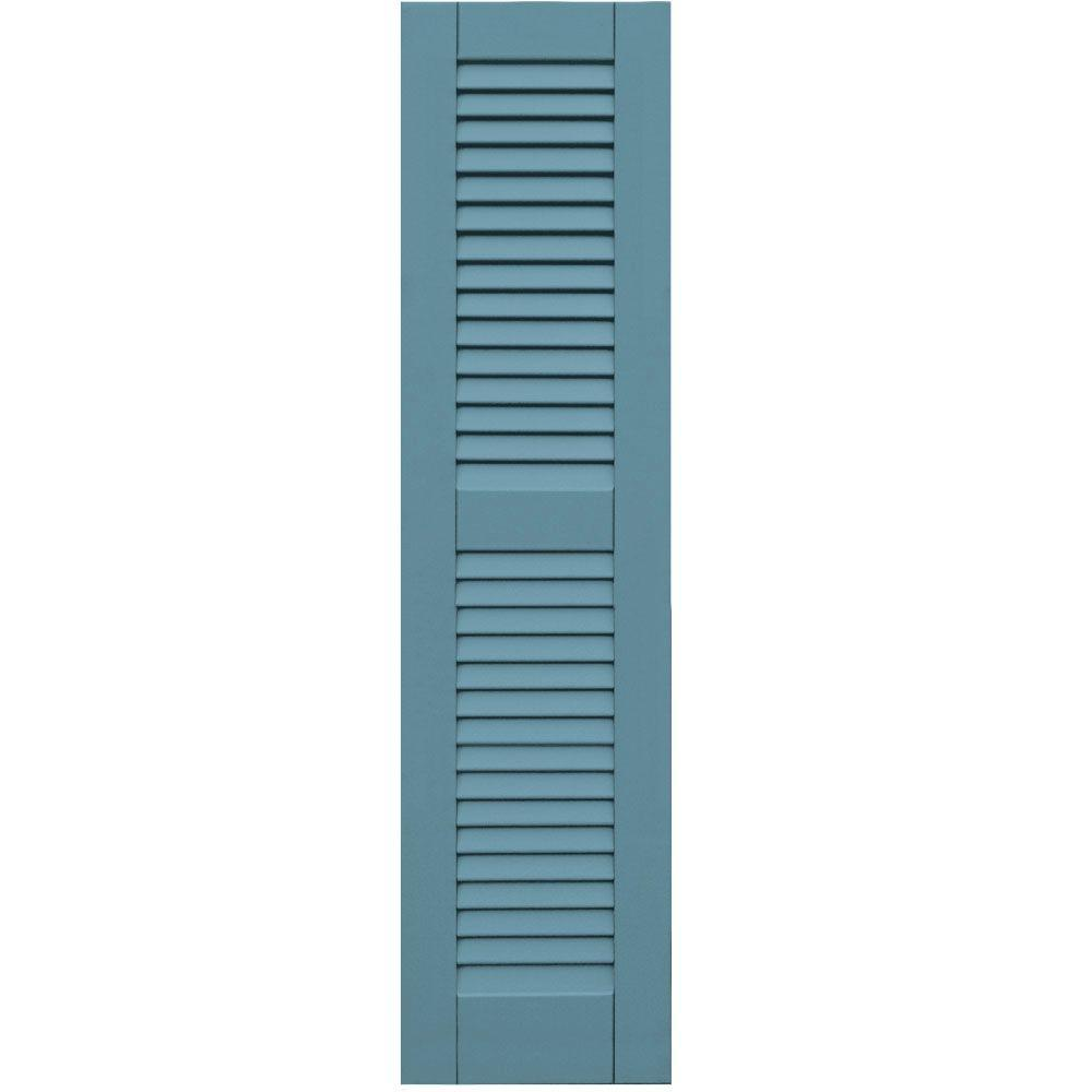 Winworks Wood Composite 12 in. x 48 in. Louvered Shutters Pair #645 Harbor