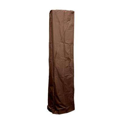 92 in. Heavy Duty Mocha Square Glass Tube Heater Cover