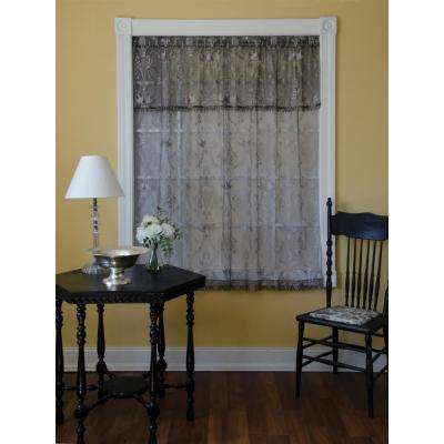 Duchess 58 in. L Polyester Valance in Pewter