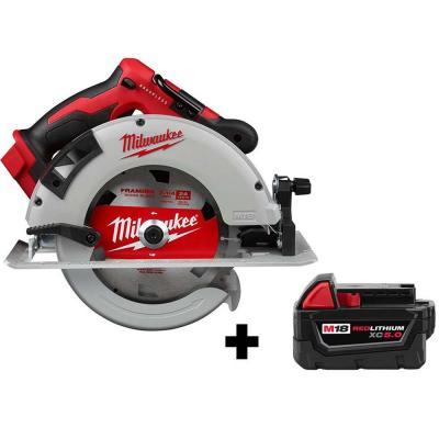 M18 18-Volt 7-1/4 in. Lithium-Ion Brushless Cordless Circular Saw with Free M18 5.0 Ah Battery