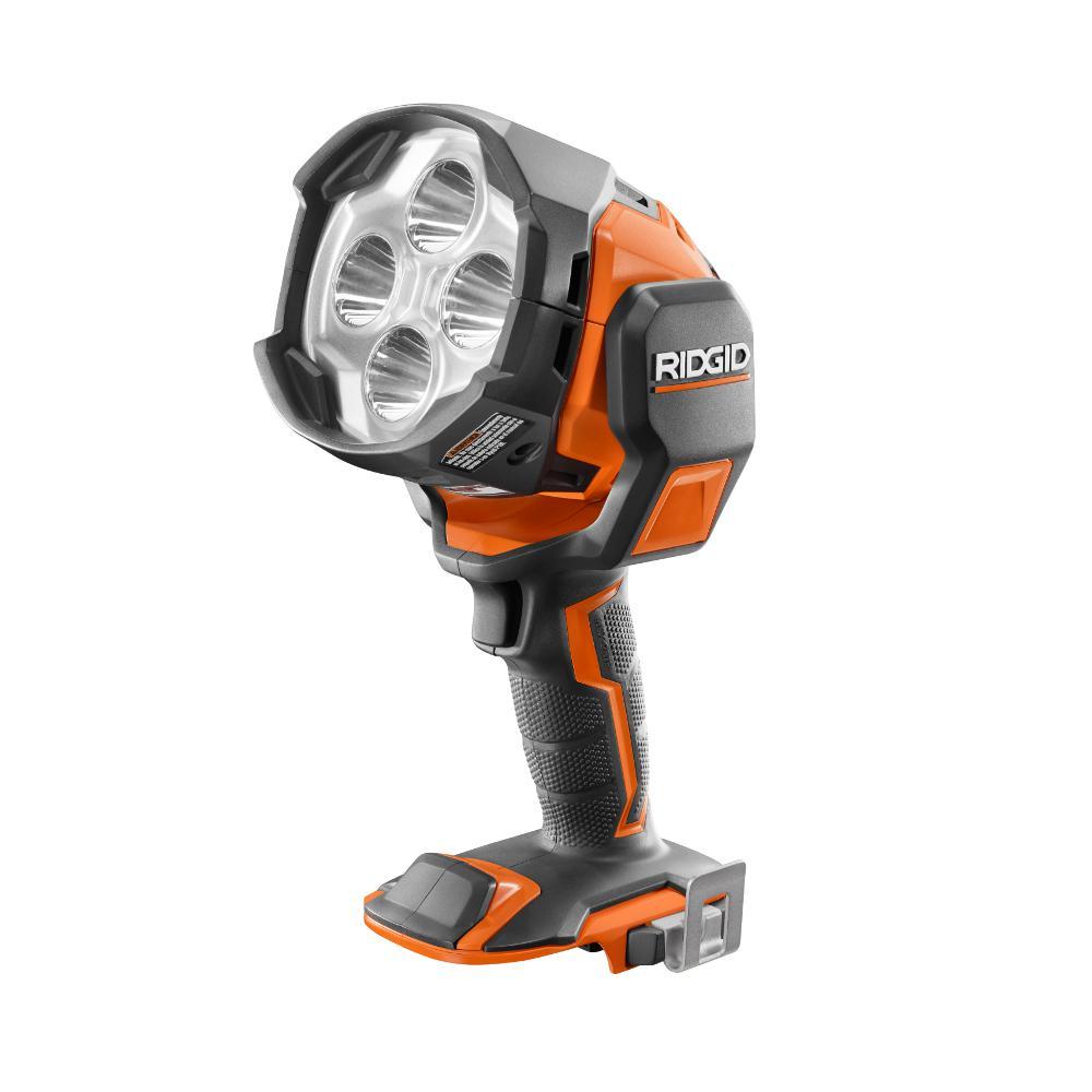 ridgid r8694220b 64_300 ridgid gen5x 18 volt led flashlight (tool only) r8693b the home depot