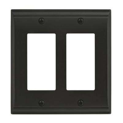 Candler 2-Rocker Wall Plate, Black Bronze