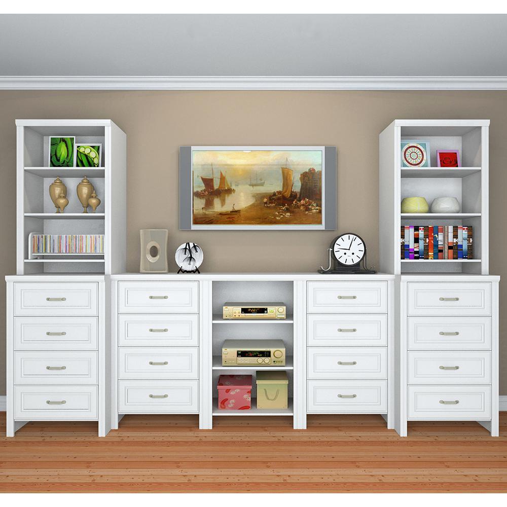 ClosetMaid Impressions 25 In White Deluxe Hutch Closet Kit