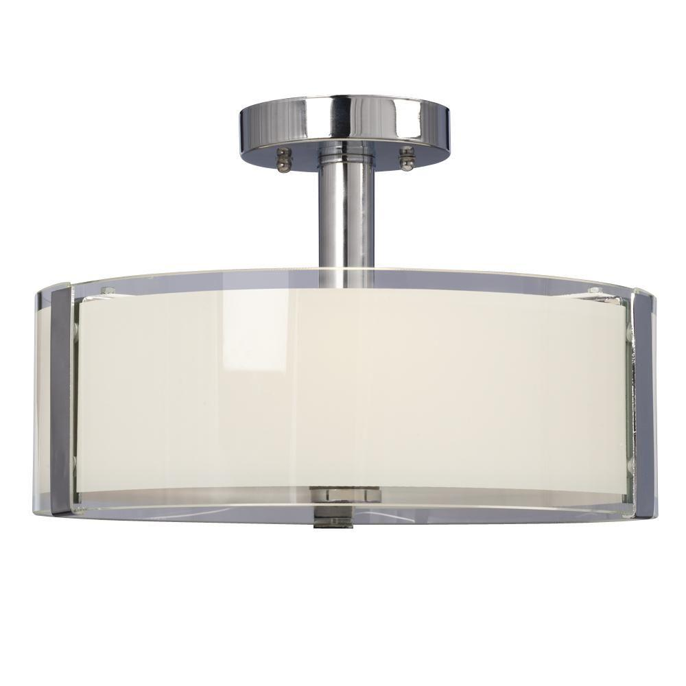 Filament Design Negron 3-Light Chrome Incandescent Semi Flush Mount